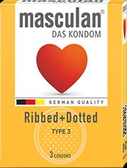Bao cao su masculan® Ripped+Dotted